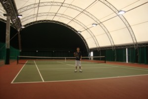 Chris on Culford indoor court