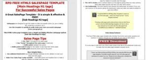 free html5 salespage template