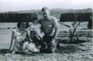 Mum, Dad, & baby Gill Africa c1959