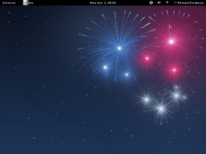 Fedora 17 desktop screenshot