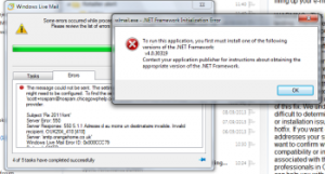 wl.mail.exe  .NET Error