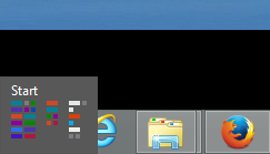 Windows 8 small start icon desktop bottom left corner