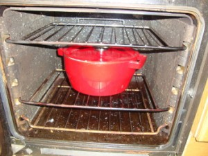 Slow cook in oven