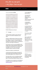 rhd_DEgs site and Fluid CSS Grid