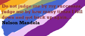 N Mandela Do not judge me by success but