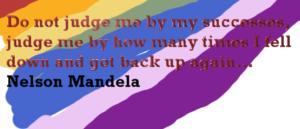 N Mandela Do not judge me by success but